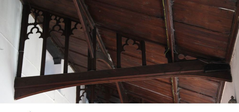 Roof structure - south aisle