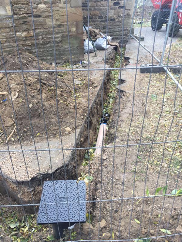 New drainage runs