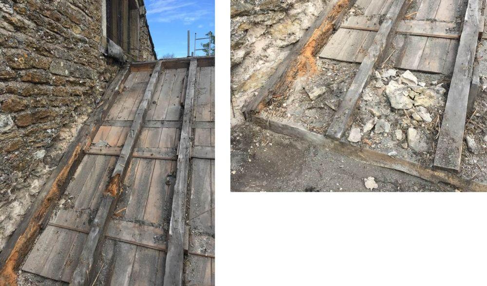 Rotting timber