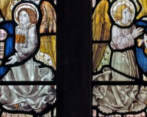 Angels bearing shields