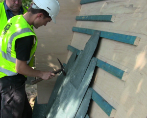 Heritage Skills day-Fixing slates